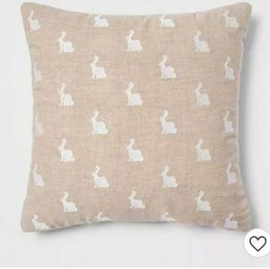 Set of 2 threshold bunny pillows